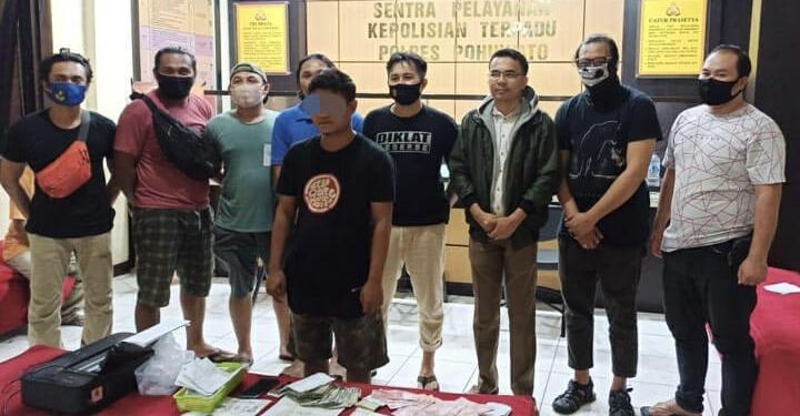 7 Pemain Dan 1 Bandar Judi Togel Online Diamankan Polres Tomohon